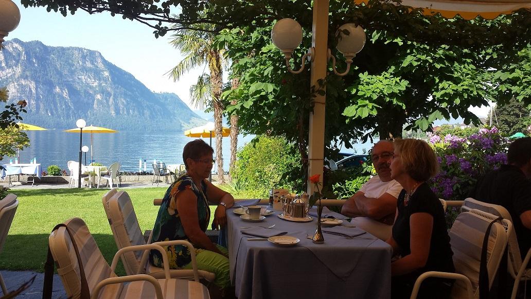 Frühstück in Weggis am See