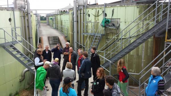 Angekommen auf der Biogasanlage