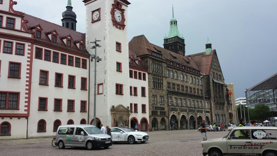 Schöner Empfang in Chemnitz